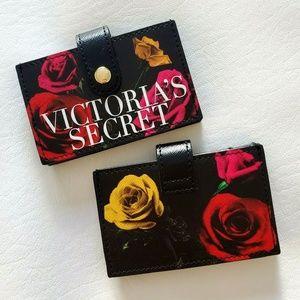 NEW Victoria's Secret Rose Floral Card Case holder